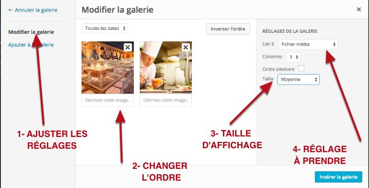 capture: Modifier une galerie Photo dans WordPress