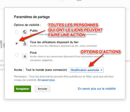 capture de: option pour les actions