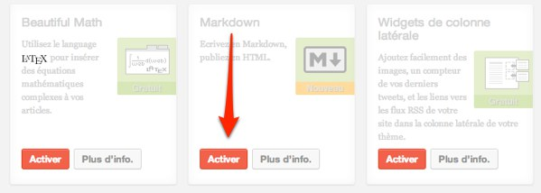 Capture: Activer Markdown dans Jetpack de WordPress